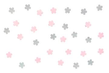 Sakura paper cut on white background - isolated