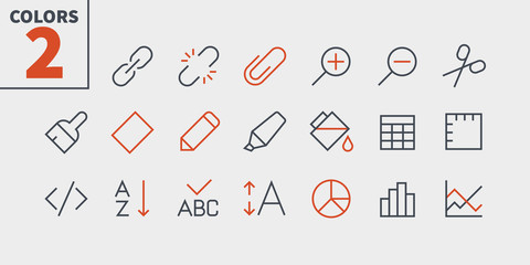 Edit text Pixel Perfect Well-crafted Vector Thin Line Icons 48x48 Ready for 24x24 Grid for Web Graphics and Apps with Editable Stroke. Simple Minimal Pictogram Part 4-4