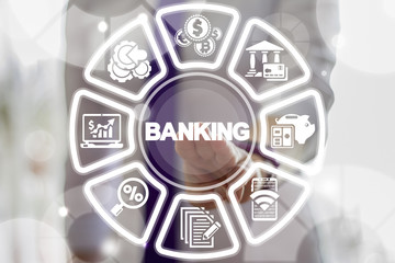 Banking Financial System. Bank Finance Money Investment Technology.