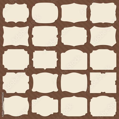 Retro blank paper label shapes vintage elegant frames for wedding vintage elegant frames for wedding invitation vector set stopboris Choice Image