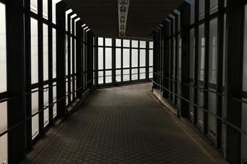 Dim lit passage