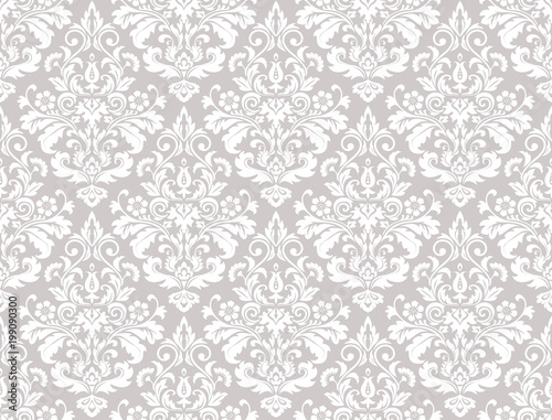 Wallpaper in the style of Baroque  A seamless vector background