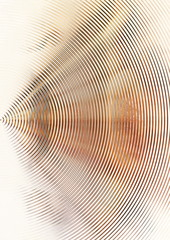 Abstract music waves floating on white background.