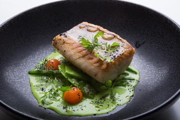 Cooked white fish fillet