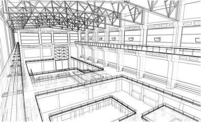 Industrial zone sketch.
