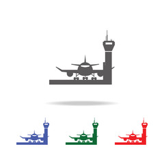 Airport vector icon. Elements of airport multi colored icons. Premium quality graphic design icon. Simple icon for websites, web design, mobile app, info graphics