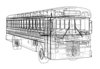 School bus outline