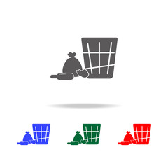 Shopping icon. Elements of human weakness and addiction multi colored icons. Premium quality graphic design icon. Simple icon for websites, web design, mobile app