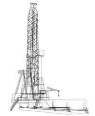 Oil rig. 3d illustration