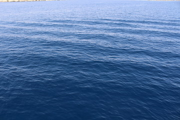 Clean surface of the Red Sea