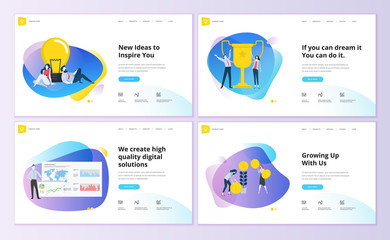 Set of website template designs. Modern vector illustration concepts of web page design for website and mobile website development. Easy to edit and customize. Fotoväggar