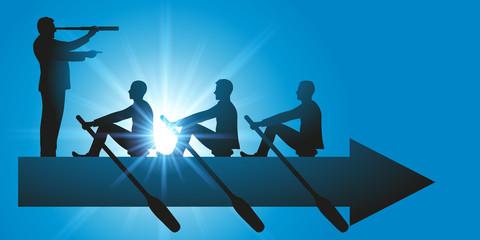 leadership - direction - équipe - concept - entreprise - flèche - stratégie - leader - vision - visionnaire