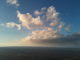 Nicaragua landscape aerial view