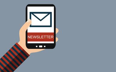 Newsletter bestellen mit dem Smartphone
