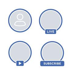 Social media icon avatar LIVE video streaming