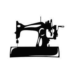Vintage Sewing Machine.  Illustration Isolated On White