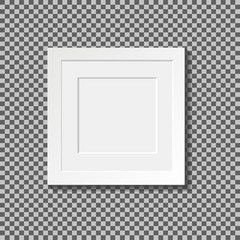 Set of realistic square photo frames