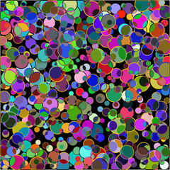 Creative background with colorful circles.