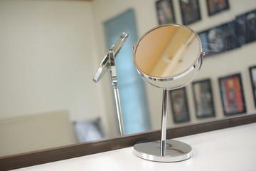 Makeup mirror in the bedroom