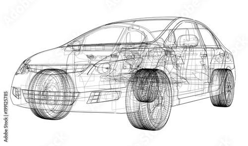Concept car blueprint
