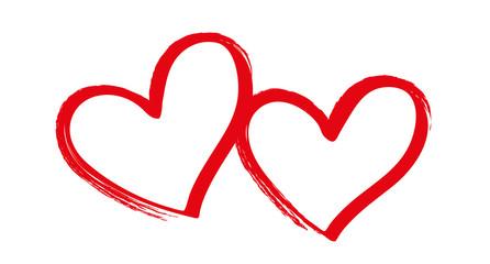 Zwei Herzen grunge
