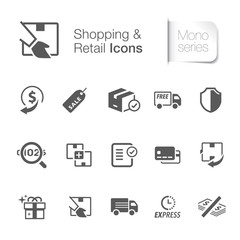 E-commerce & retail icons