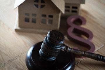 House Auction,Gavel and Property