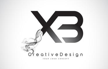 XB Letter Logo Design with Black Smoke.