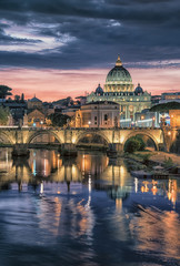 Fototapete - St Peter's basilica in Rome