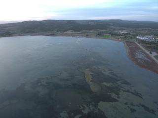Drone en Gruissan,localidad y comuna francesa, situada en el departamento del Aude en la región de Languedoc-Rosellón. Fotografia aerea con Dron