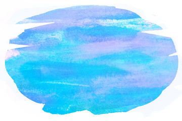 Blue watercolor with shades of purple Abstract water color brush paint line splash element for card, web, print