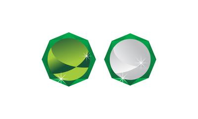 Diamond symbol Template Blank Set