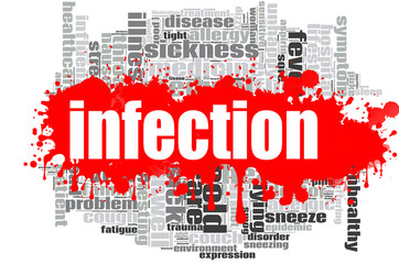 Infection word cloud design