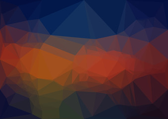 Abstract deep polygonal texture background. Geometric pattern for graphic design. Can be used as gradient or wallpaper.