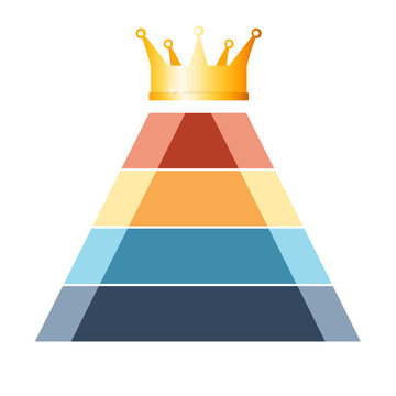 Pyramid colorful  infographic 4 positions.