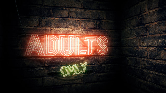 Adults Only neon sign