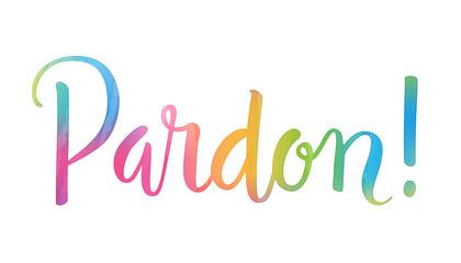 Carte PARDON !