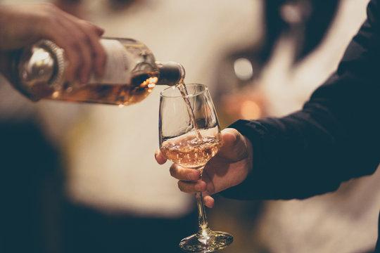 Rose Wine Glass Tasting - top best view