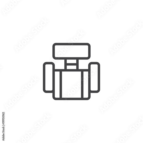 Office chair top view outline icon. linear style sign for mobile ...