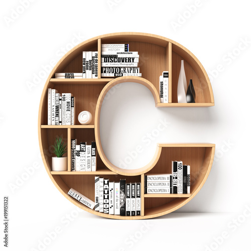 Bookshelves 3d Font Alphabet In The Form Of Book Shelves Mockup Letter