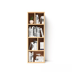 Bookshelves 3d font. Alphabet in the form of book shelves. Mockup font.  Letter I 3d rendering