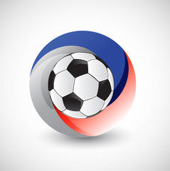 russian flag and soccer ball Illustrator. design graphic