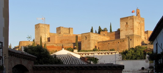 Foto auf AluDibond Kunstdenkmal Alhambra - Palazzo Reale a Granada in Spagna