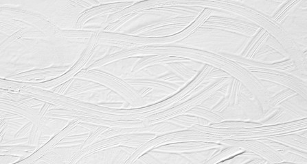 White background with patterns of divorce and brush strokes by hand, rough lines. Texture paint is a light color for wallpaper.