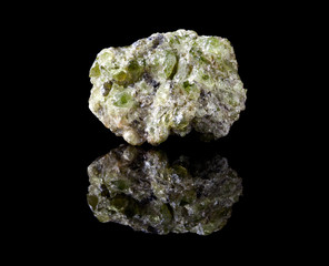 Peridote or olivine crystals