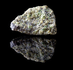 Olivine mineral rock
