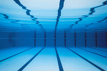 Underwater view of swimming pool