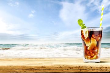 summer drink of cuba libre