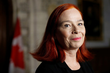 CBC/Radio-Canada President and CEO Catherine Tait takes part in a news conference announcing her appointment in Ottawa
