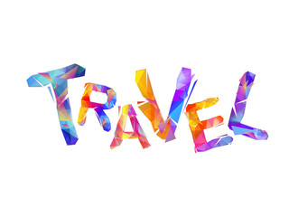 Travel. Word of triangular letters